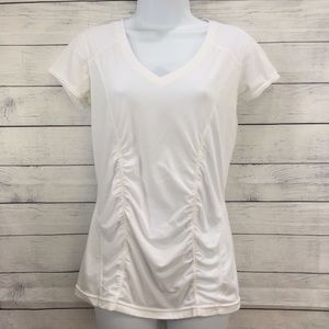 Women's Zella White Ruched Workout Top